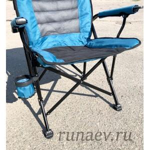 Кресло с подлокотниками анатомическое (нагрузка до 150кг)