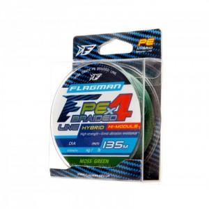 Плетёнка FLAGMAN PE Hybrid F4 Braided 135м Moss Green 0,19