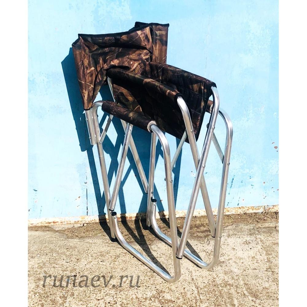 Кресло складное алюминиевое закрытая спинка (60х45х85)