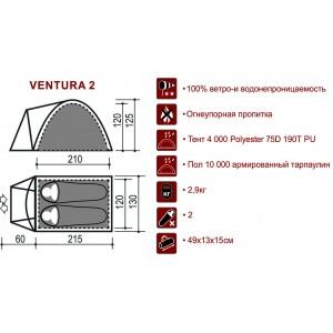 Палатка Indiana VENTURA 2 м